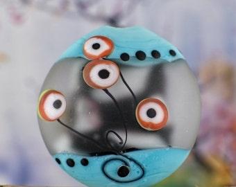 focal lentil bead...... acid etched....... sra