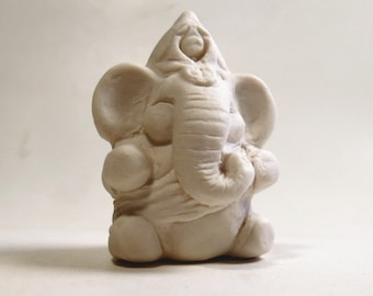Ganesha Matte White Ceramic Elephant God Miniature Ganesh Hindu Porcelain Figurine Art Sculpture Zoomorphic
