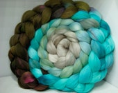 Merino 15.5 Roving Combed Top 5oz - Deep Fried Mossgill 1 - OoaK