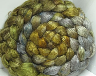 Yak Bombyx Silk 50/50 Roving Combed Top - 5oz - Cripple Creek 1