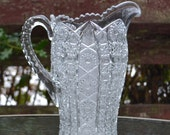 Gorgeous Pressed Glass Pitcher