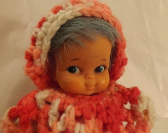 FREE SHIPPING vintage doll with blue hair (Vault 6)