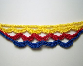 primary loops crocheted choker
