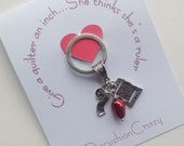 Quilter Keychain - Girlfriend Gift - Guild Gift Exchange - Gift for Quilter - I Love Quilting - Keychain for Quilter - Sewing Gift
