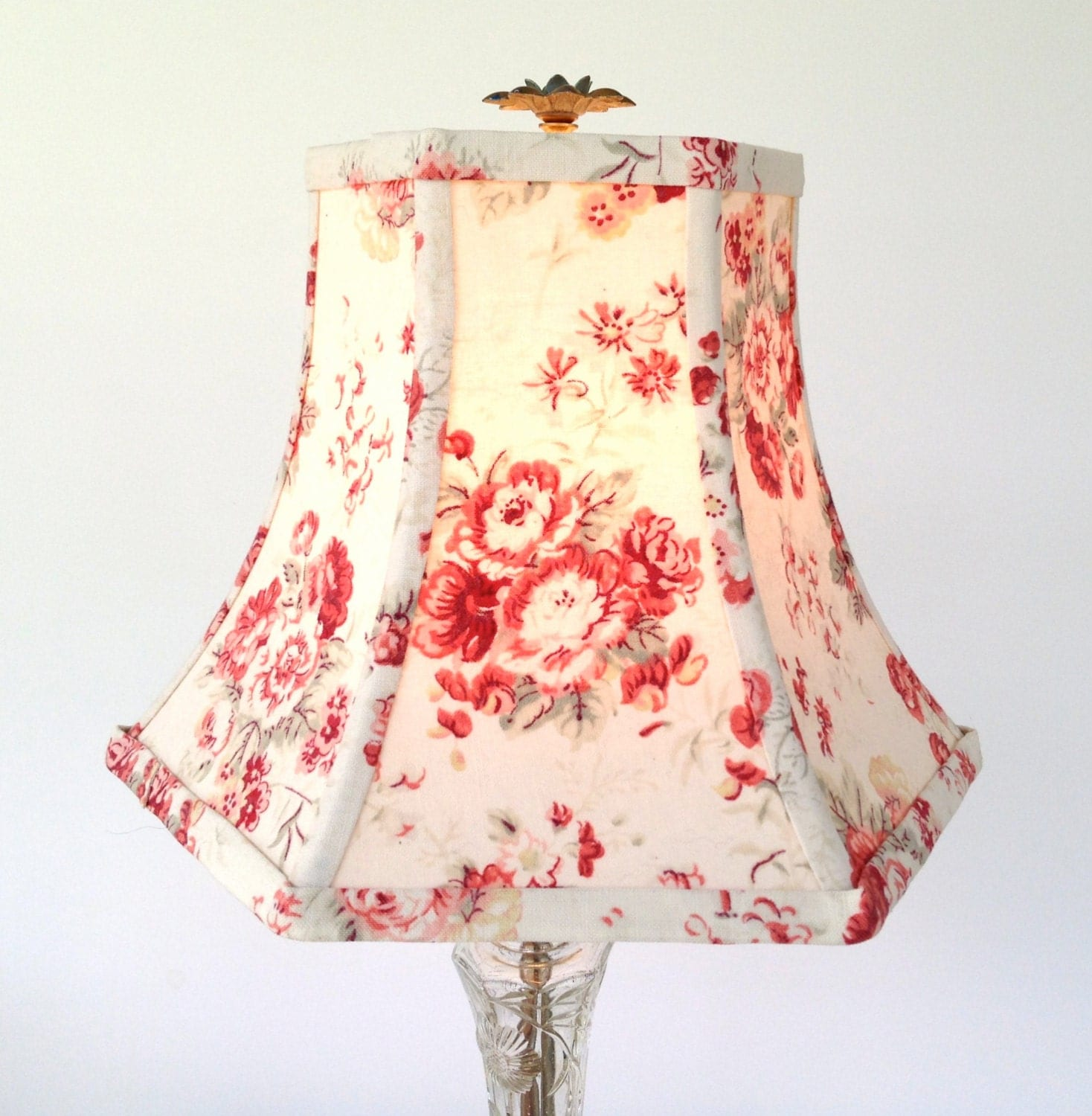 Chic Lamps: Shabby Chic Lamp Shade Lampshade French Vintage Cotton Hex