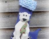 Whimsical Polar Bear Christmas Stocking