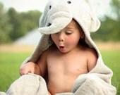 Baby Elephant hooded towel
