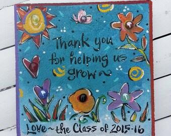 Garden stone, Teacher gift