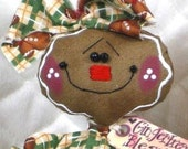 """Primitive Raggedy NEW """"TINY COOKIE""""~w/rolling pin~Gingerbread Doll Collection!"""