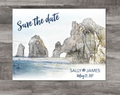 Mexico save the date, Destination Wedding save the date, Cabo San Lucas save the date, Deposit