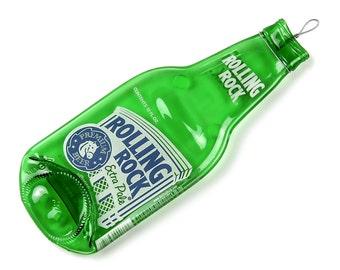 Rolling Rock Beer Bottle Spoon Rest / Melted Bottle / Boyfriend Gift / Man Cave Decor / Beer Gifts / Mens Gift / Beer Decor / Beer Items