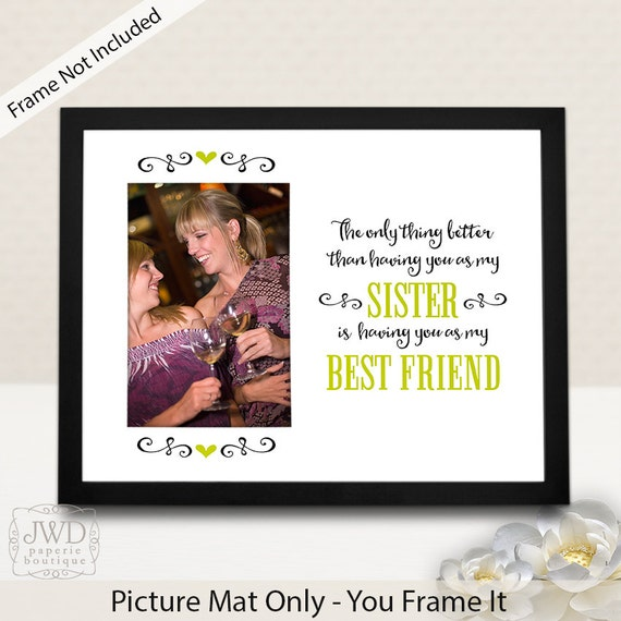 Friendship Picture Frames With Quotes: Sister Gift Personalized Best Friend Sister Quote By
