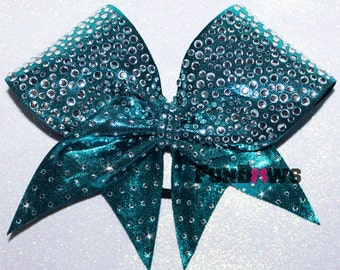 Gorgeous allstar Blue Teal  Cheer  bow by FunBows - WOW - Customize this !