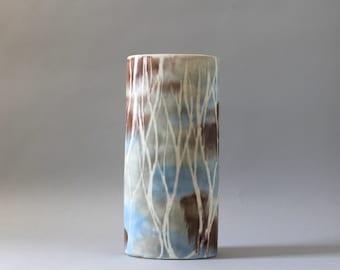 Andersen Design Pottery Vase, Birch Trees Pattern, Andersen Ceramics Vase, Maine Pottery, Weston Neil Andersen, Brenda Andersen