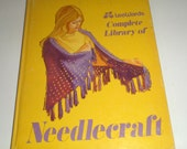 Vintage Lee Wards Craft Book - Complete Needlecraft Library - Crochet, Knitting, Cross Stitch - Pattern Book - Make Sweaters Bags and More