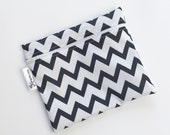 XL Black Chevron Reusable Baggie
