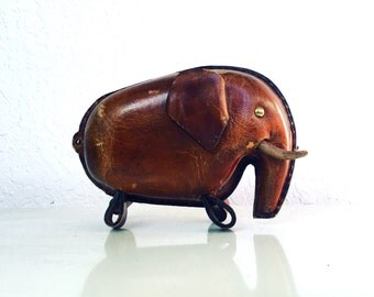 Leather Elephant Piggy Bank