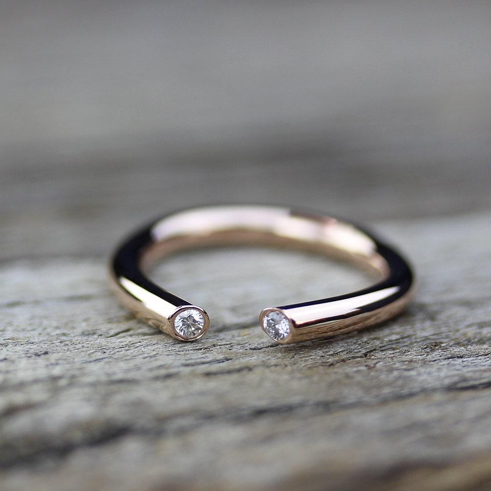 open diamond gold engagement ring 14k gold alternative. Black Bedroom Furniture Sets. Home Design Ideas
