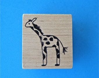 Giraffe Vintage Rubber Stamp Made in Canada