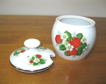 Vintage Gerold Porzellan W. Germany Porcelain Sugar Bowl Jam Honey Pot
