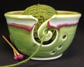 Yarn Bowl - Knitting Bowl - Green Yarn Bowl - Gift for Women - Pottery Yarn Bowl - Yarn Bowl Ceramic - Ceramic Yarn Bowl - YarnBowl -InStock