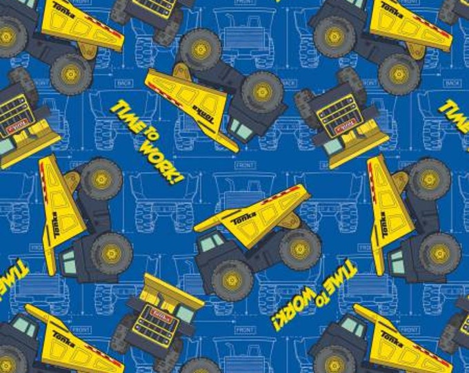 Tonka Trucks Time To work Children's Fabric by Springs Creative 43-44 inches wide