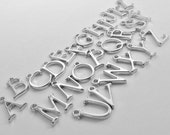 Silver Letter Charm, Initial Charm, Uppercase Letters, Add A Charm, Extra Charm, Small Initial Charms