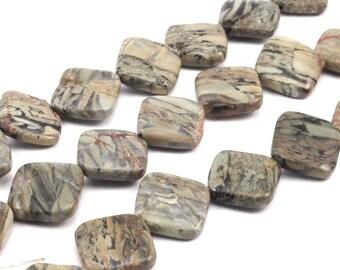 22mm Autumn Jasper Diamond Gemstone Beads 15.5 Inches Full Strand G393