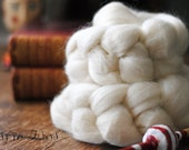 Corriedale Wool Roving Undyed Combed Top Natural Ecru Spinning Felting fiber- 4 ounces