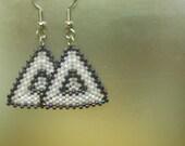 Triangle Delica Bead Earrings