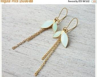 Sale 20% OFF Enid Earrings, floral pendant, Scandinavian design jewelry