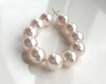 Gorgeous High Lustre Baroque White Akoya Pearls - Mini Strand - 11 Pearls
