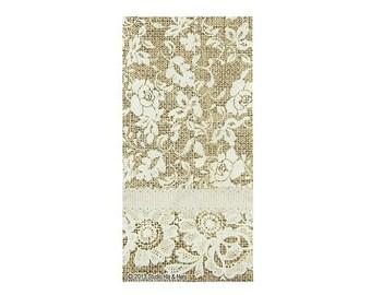 25 Burlap Lace Guest Paper Napkins Wedding Party Rustic Charm Decor