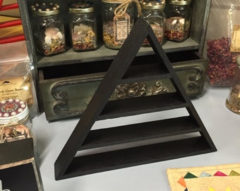Magical Pyramid Shelf Triangle Shelf Four Shelves Black