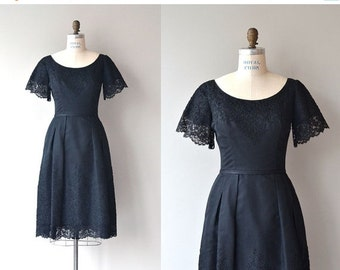25% OFF SALE Harvey Berin dress   vintage 1950s dress   black 50s dress