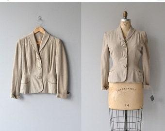 25% OFF SALE Mapstone jacket | vintage fitted 40s jacket • wool 1940s jacket