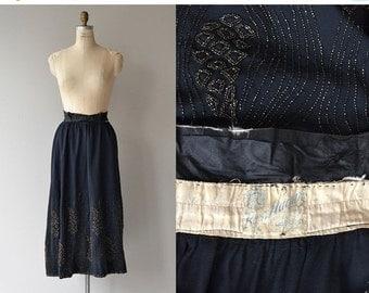 25% OFF.... Rosa Hazen wool beaded skirt | vintage Edwardian skirt | beaded 20s skirt