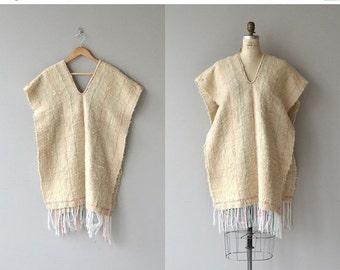 25% OFF.... Tamalpais wool poncho | vintage 1970s poncho | wool 70s poncho