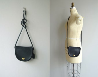Coach 'Watson' crossbody bag | vintage 1980s black Coach purse | small Coach shoulder bag