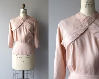 Soft Quartz blouse | vintage 1940s blouse | silk 40s blouse