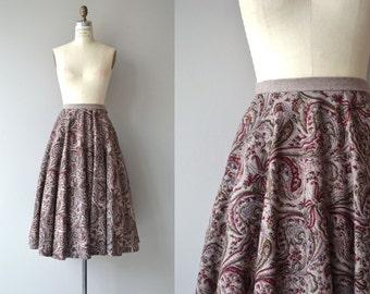 Leyton wool circle skirt | vintage 1950s skirt | wool 50s skirt