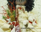 Brand NEW Ready to Ship Beautiful Handmade Black Doll for Christmas