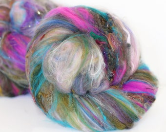 Fairy Wings 3.4 oz  Wool - Merino- Art Batt // Wool Art Batt for spinning or needle felting