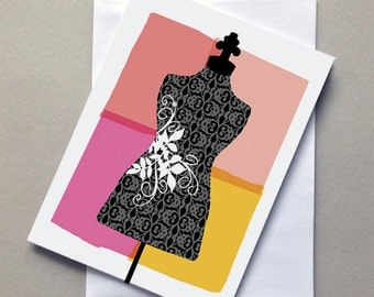 Mannequin, Card, Blank, Greeting card