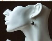 ON SALE All Sterling Silver Earrings XXXL size Freshwater Pearl from Tibet in Sterling Silver