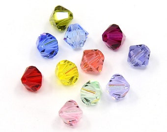 Swarovski Bicone Bead - 6mm - Mixed - Sold in sets of 25