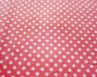 SALE Japanese Cotton Fabric - Baby Pink Tiny Dots Fabric By The Yard (TD21) - Half Yard