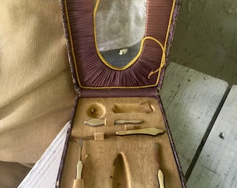 VICTORIAN Travel set Boot Hook Corset hook Mother of Pearl
