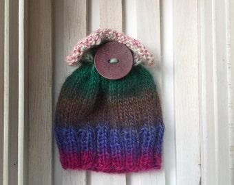 Knit newborn top fan hat. Newborn photography prop. Knit gift. Newborn hat.