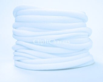 Wholesale .39+White Stretch Nylon Chokers...Use for bottle cap jewelry,pendants,charms, headbands/doubles as a bracelet or anklet....